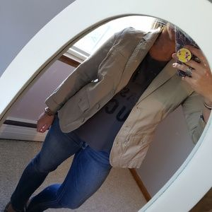 Eddie Bauer khaki fitted blazer 10